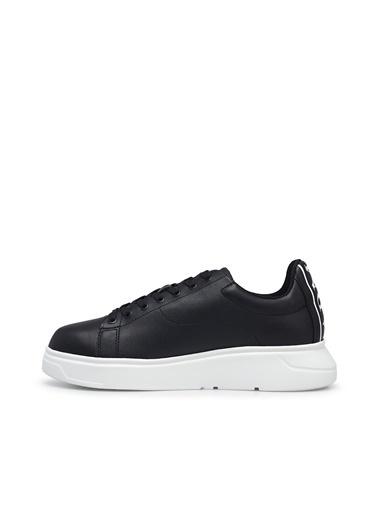 Emporio Armani  Deri Sneaker Ayakkabı Erkek Ayakkabı S X4X312 Xm490 K001 Siyah